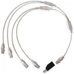 Cordon quadruple téléphone / RJ45